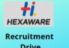 hexaware hiring Graduate