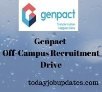 Genpact Recruitment Drive