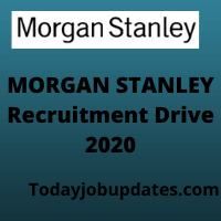 Morgan Stanley Recruitment Drive