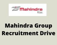 Mahindra GroupsRecruitment Drive