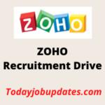 zoho Recruitment Drive