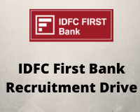 IDFC Recruitment Drive