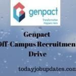 Genpact hiring Fresher