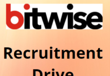 Bitwise hiring Fresher