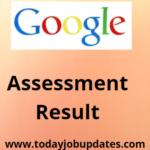 Google online assessment results
