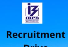 IBPS Recruitment Drive